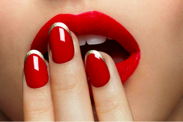 A shot from the Revlon Nails Fall campaign