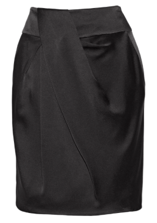 ALEXANDER WANG Gathered sateen skirt $115 Original price $575 80% off