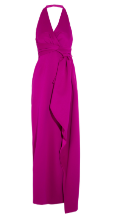HALSTON HERITAGE Draped double-faced satin gown $119 Original price $595 80% off