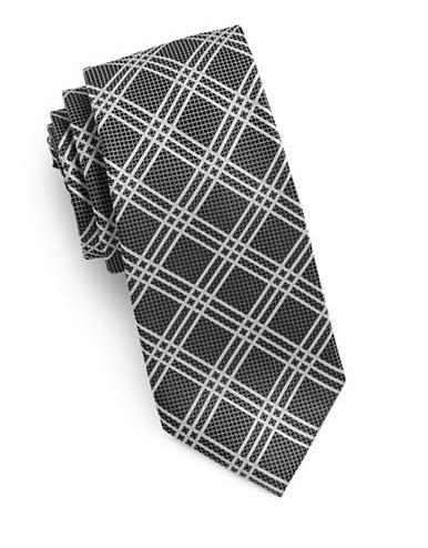 MICHAEL MICHAEL KORS Grid Silk Tie $60